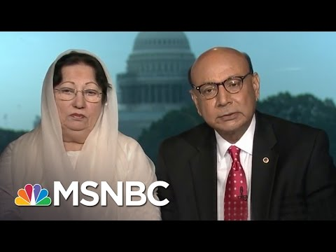 Joe Scarboroughinterview whereKhizr Khan and Ghazala Khanresponded toDonald Trump's criticism