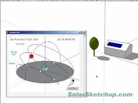 Solar Energy Design & Analysis for Google SketchUp - Ver 1.0.4 - Shadow simulation
