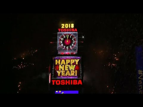 Very Cold New York Times Square Ball Drop