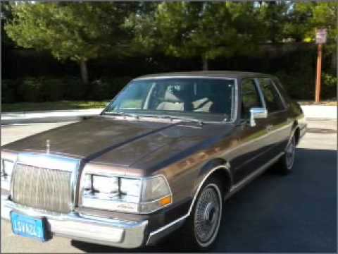 1987 Lincoln Continental Costa Mesa Ca Youtube