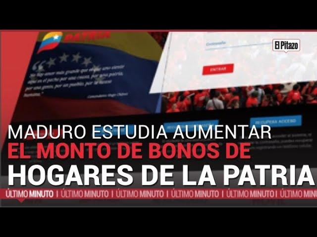 Nicolás Maduro estudia aumentar monto de bonos de Hogares de la Patria
