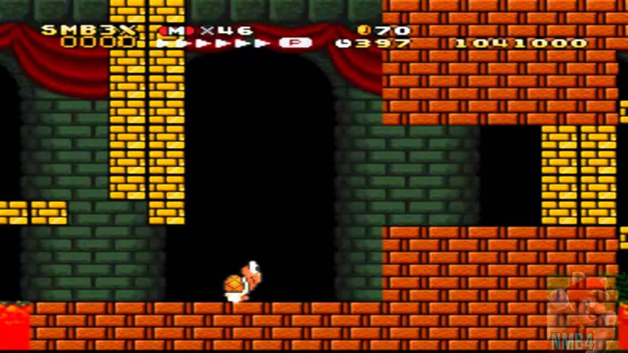 Super Mario Bros 3 X Walkthrough Part 12 Bowser S Castle World 9