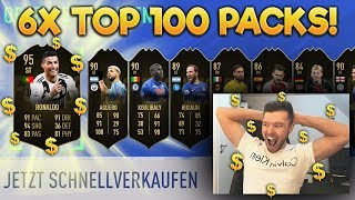 OMG!! 6x TOP 100 PACKS 🔥🔥 FIFA 19