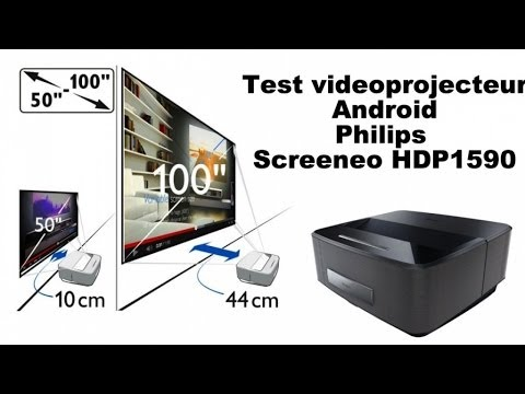 Test videoprojecteur Android Philips Screeneo HDP1590