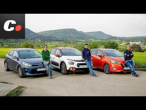 Kia Rio 2018 vs Nissan Micra vs Citroën C3 | Comparativa | Prueba / review en español | Coches.net