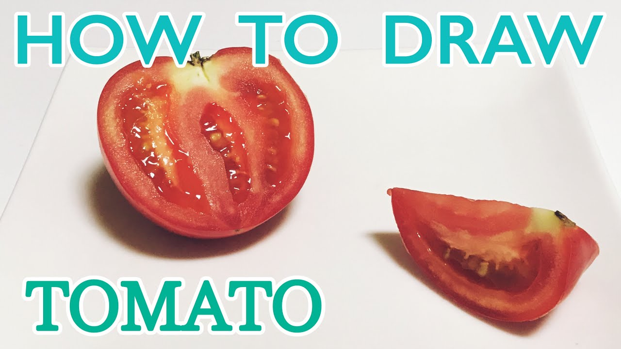 着彩 How To Draw Tomato トマトの描き方のコツ Youtube