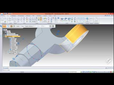 Solid edge st7 part modelling part 3 - YouTube