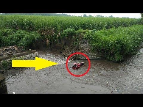 BAWA MOTOR KENCANG PEMUDA DI KEDIRI Tewas Terjun ke Sungai