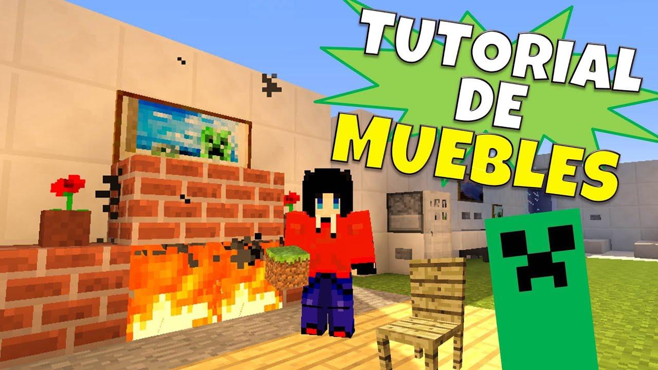 Minecraft:Super Tutorial de Muebles, Sin Mods + Cuarto Secreto ...