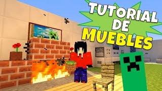 Minecraft:Super Tutorial de Muebles, Sin Mods + Cuarto Secreto :)