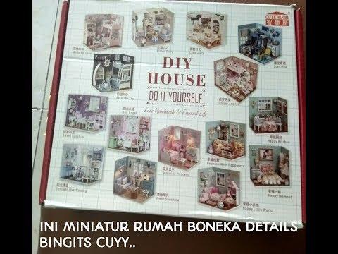 UNBOXING MINIATUR RUMAH BONEKA (DIY). DETAIL NYA BIKIN ASIK.- TOM TAM