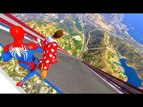 GTA 5 Epic Ragdolls/Spiderman 4K Compilation Vol.20 (GTA 5, Euphoria Physics, Fails, Funny Moments)