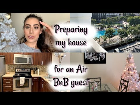 Preparing my house for an Air BnB Guest! | Apartment Cleaning/ Decorating Inspo | Chanelle Angelina
