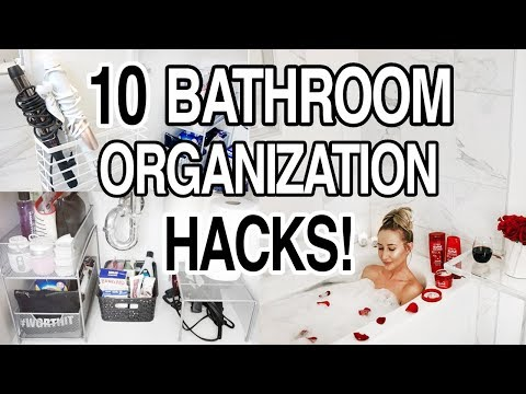 10 BATHROOM ORGANIZATION HACKS + STORAGE IDEAS!