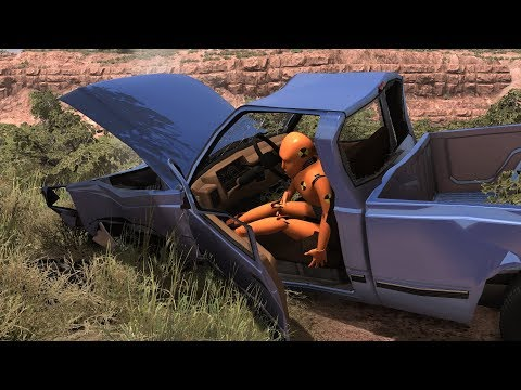 Seatbelt vs. No Seatbelt Crash Test Dummy 4 | BeamNG.drive