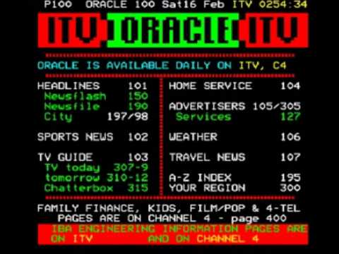 LWT Closedown and ORACLE Page Junction (16th February 1985) Part 1