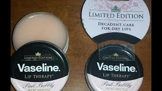 First Impression/Review Of the Vaseline Pink Bubbly Lip Therapy Lip Balm