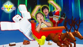 RYAN'S CHRISTMAS EVE IN ROBLOX ! Let's Play Roblox Holiday Game with Ryan's Daddy