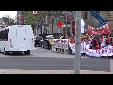 Chinese Prime Minister Li Keqiang -Motorcade-Ottawa-2016