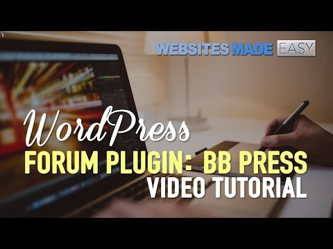 WordPress Forum Plugin - BB Press!