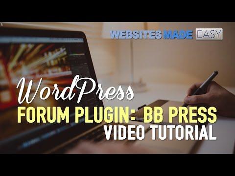WordPress Forum Plugin – BB Press!