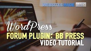 видео WP Forum Server (Forum Press) -  простой форумный плагин