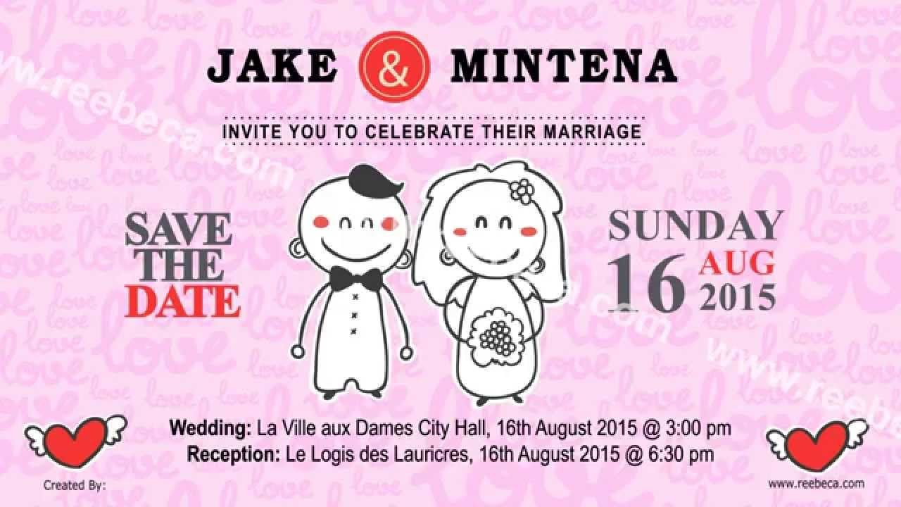 Animated Wedding Video Invite | Surprise family dance at my sister\'s ...