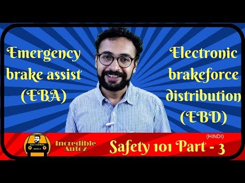 EBD Electronic Brakeforce Distribution | BA Brake Assist | Safety 101 | P - 3 | Incredible Autoz