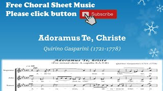 Adoramus Te, Christe - Quirino Gasparini - YouTube