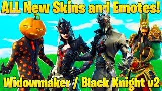 ALL *NEW* Fortnite Skins and Emotes COMING SOON! (Black Knight v2, Spider Skins + MORE!)