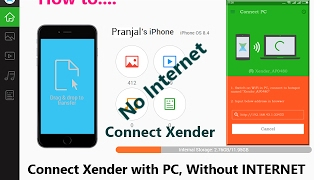 Connect Xender with PC Without Internet
