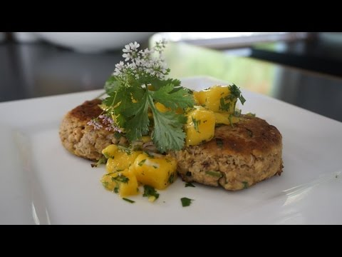 Salmon Patties with Mango Salsa Delicious & Easy!