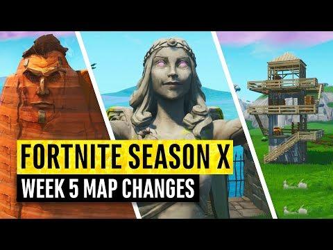 Fortnite | All Season X Map Updates And Hidden Secrets! WEEK 5