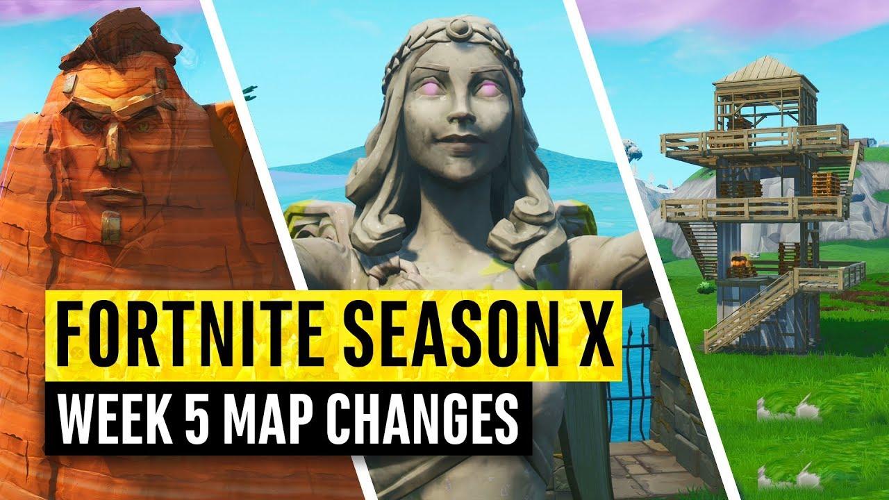 Fortnite All Season X Map Updates And Hidden Secrets Week 5