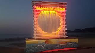 태안만리포해수욕장 노래비광장 분수대