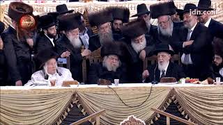 Ashorer Shira @ Belz Sehva Brochos Attended By R' Shalom Cohen And Kaliver Rebbe