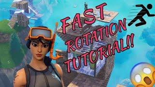 Fast Rotation on Console Tutorial + Settings! (Fortnite Battle Royale)