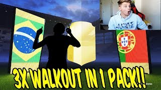 3x WALKOUT in 1 PACK! 🔥🔥 BESTES PACK OPENING ALLER ZEITEN! - Fifa 18 Ultimate Team Deutsch