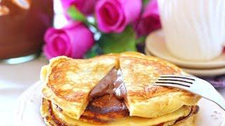 Tortitas rellenas de Nutella