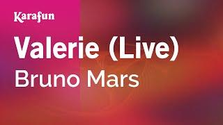 Karaoke Valerie (Live) - Bruno Mars *
