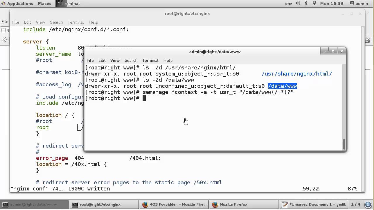 208 4 ติดตั้งใช้งาน Nginx ให้ทำงานเป็น Web server และ Reverse proxy ตอนที่ 1