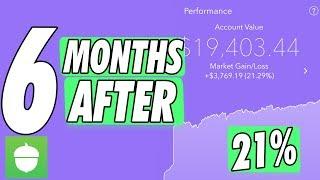 My Acorn Investment Aggressive Portfolio App After 6 Months