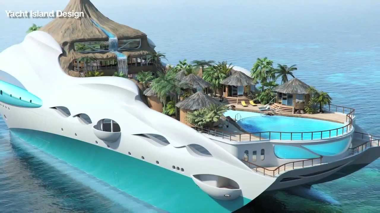 Yacht Island tropical island luxury yacht - youtube