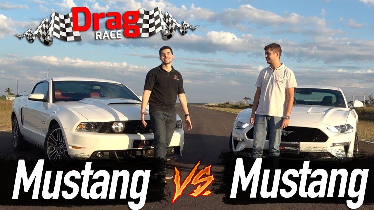 Drag Race Mustang GT 2012 x Mustang GT 2018 | Top Speed