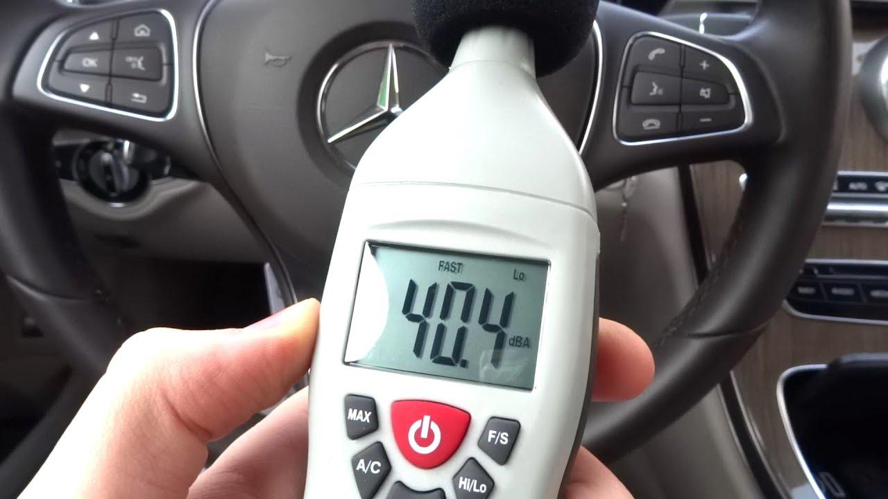 2015 mercedes benz c class w205 wind noise problem check sound level insulation deadening test mercedes-benz autonomous car