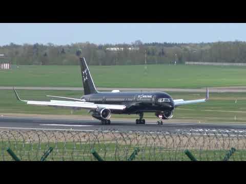 TAG Aviation VIP Boeing 757 flight VIP 814 landing in Vilnius