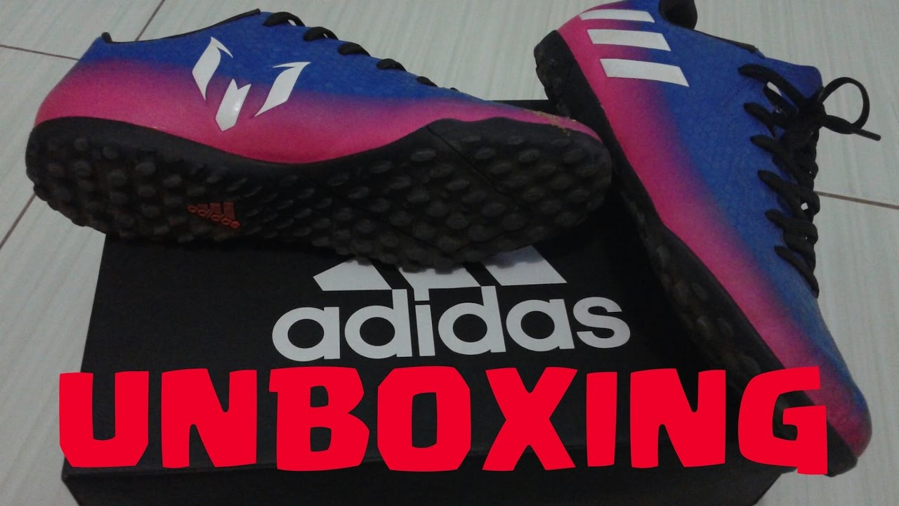 1aaff3ab32 UNBOXING   CHUTEIRA ADIDAS MESSI 16.4 TF SOCIETY - YouTube