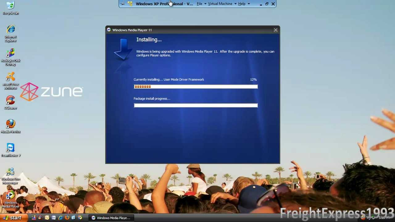 How to download and install windows media player 11 on windows xp.
