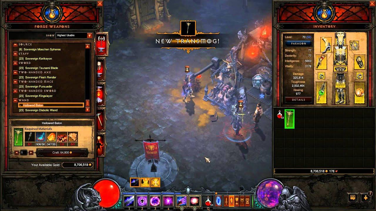 Diablo 3 crafting hallowed baton youtube for Diablo 3 crafting items