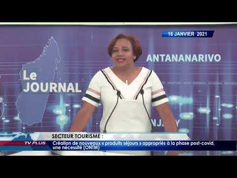 JOURNAL DU 16 JANVIER 2021 BY TV PLUS MADAGASCAR